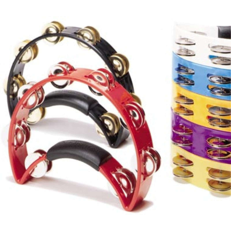 Rhythm Tech POLISHED BRASS JINGLES Tambourine BRTT3R RED