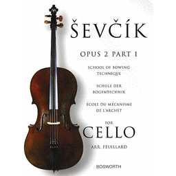 Sevcik Opus 2 Part 1 School of Bowing Technique for Cello