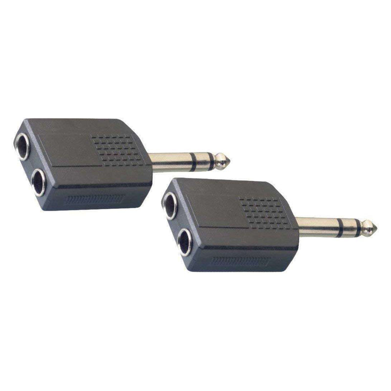 Stagg Dual Female Stereo Jack to Male Stereo Phone Plug Adapter