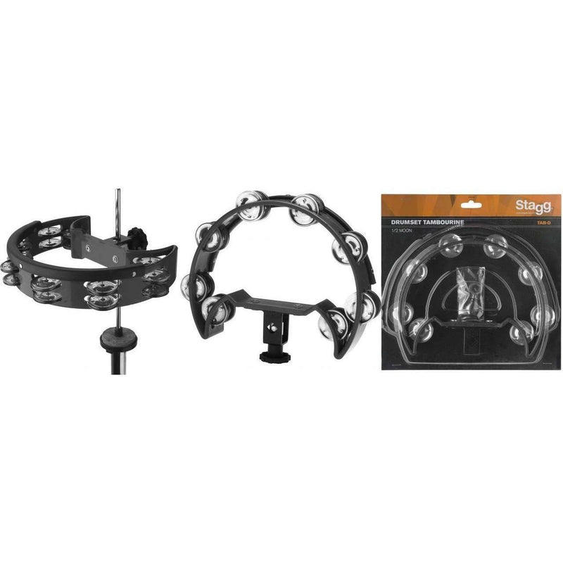 Stagg Half Moon Tambourine for Hi Hat Stand