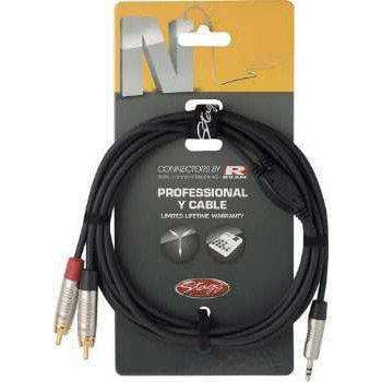 Stagg N Series 3.5m Jack to Stereo RCA