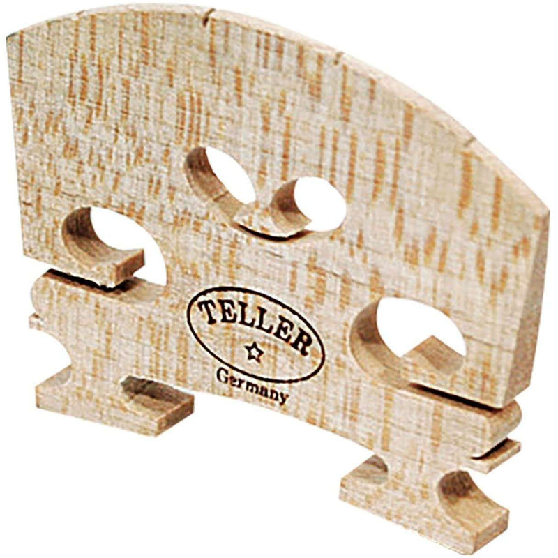 Violin Bridge - Teller Model. Shaped and Fitted. 3/4