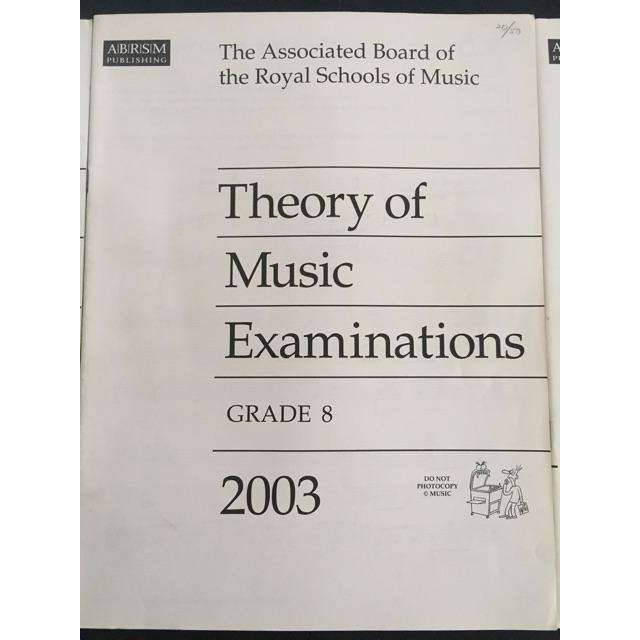 ABRSM Theory Past Exams 2003
