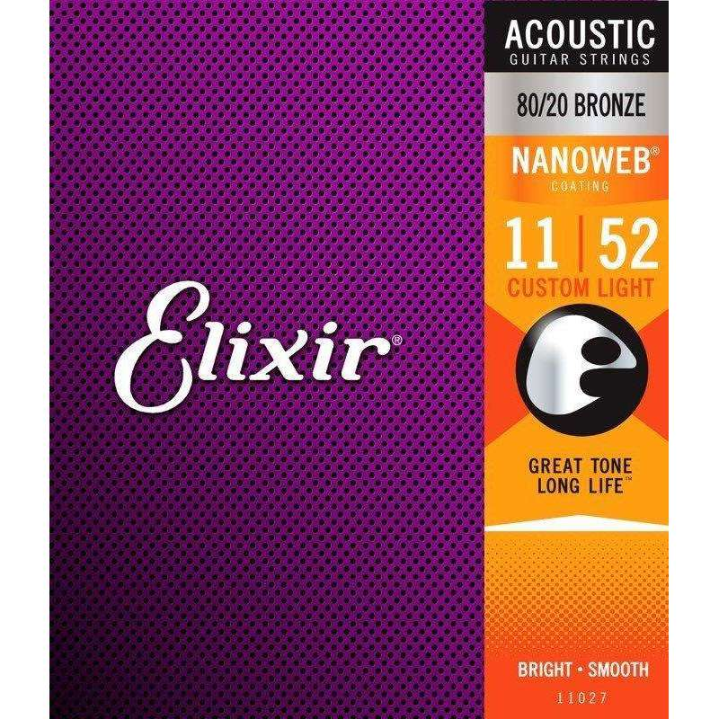 Elixir NanoWeb Acoustic Guitar Strings