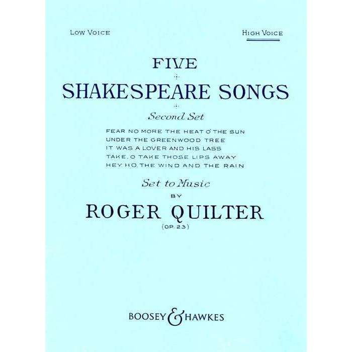 Quilter - Five Shakespeare Songs (High Voice) Op.23