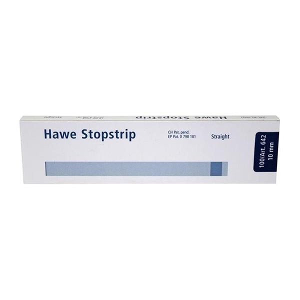 material dental desechable matrices HAWE-NEOS, 642 stopstrip recto 10mm. 100u