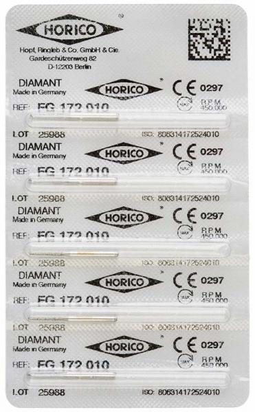 fresas dentales HORICO, 172-010 fg diamante fig.847 5u