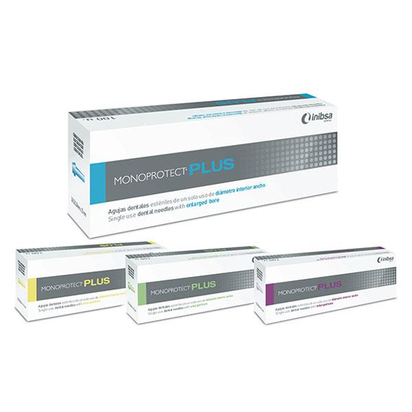 material dental desechable agujas INIBSA, aguja plus monoprotect 30g  0.3mm 100u.