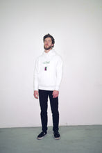 Load image into Gallery viewer, alter hoodie hooded sweater white logo embroidery embroidered boy wearing