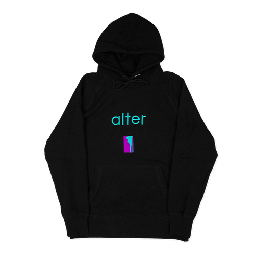 alter skateboard co company originals logo hoodie hooded sweater black front