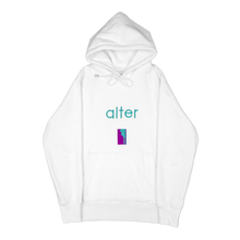 Load image into Gallery viewer, alter skateboard co company originals logo hoodie hooded sweater white front
