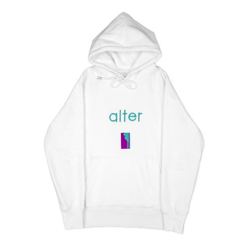 alter skateboard co company originals logo hoodie hooded sweater white front