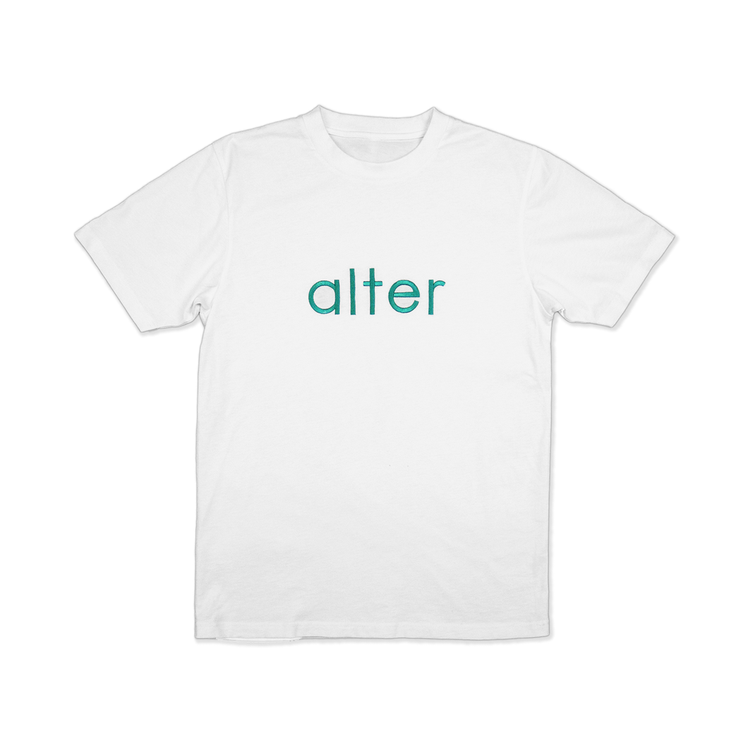 alter skateboard co company originals logo t-shirt tee white front