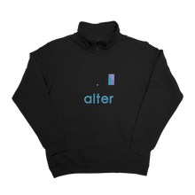 Load image into Gallery viewer, alter skateboard co company quarter zip sweater black