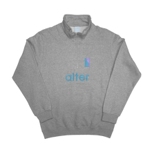 Load image into Gallery viewer, alter skateboard co company quarter zip sweater grey