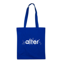 Load image into Gallery viewer, alter trobbies skateboard co totebag tote bag skateboards company blue