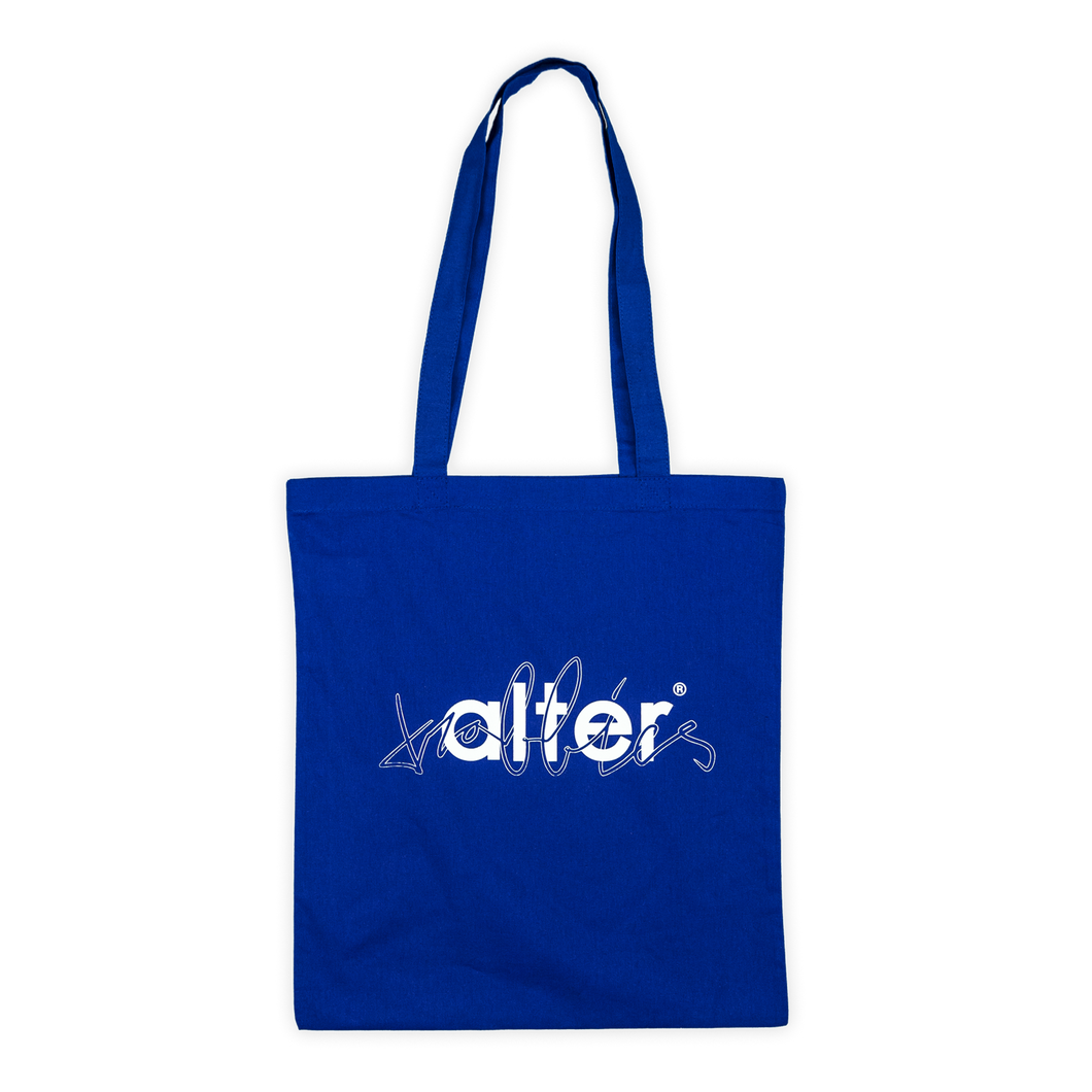 alter trobbies skateboard co totebag tote bag skateboards company blue