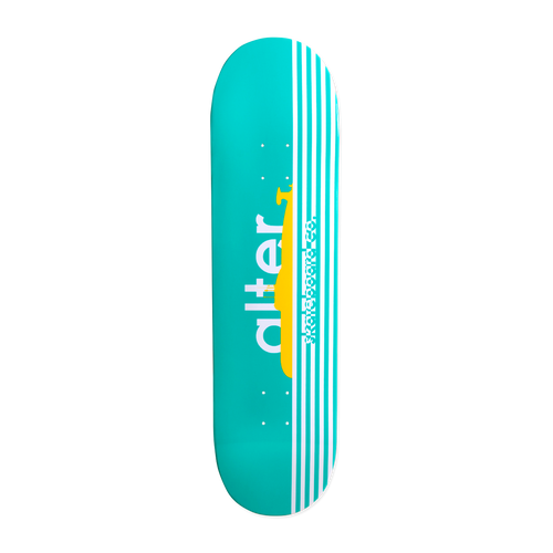 alter skateboard co turquoise yellow submarine graphic skateboard