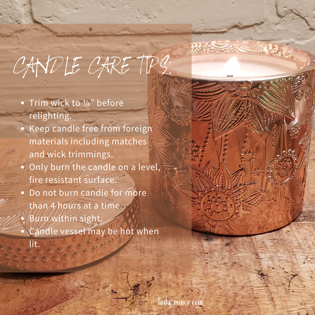 Soy candle care tips