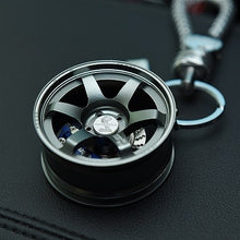 Luxury Metal Car Wheel Keychain
