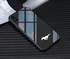 Tempered Glass Mustang Phone Case (Apple and Samsung)