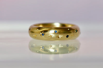 High Dome Celestial Band | 6mm | Sprinkled