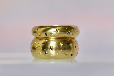 High Dome Celestial Band | 9mm | Sprinkled