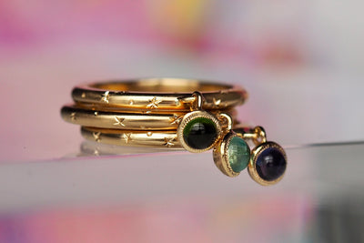 Gravity Ring | Olive Green Tourmaline