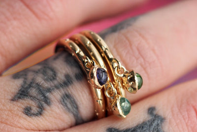 Gravity Ring | Purple Iolite