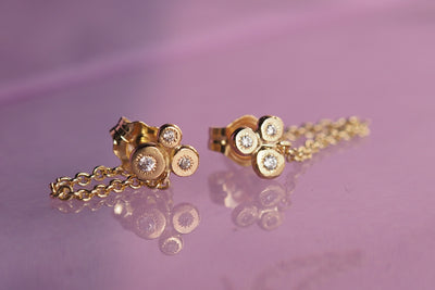 Dew Drop Trio and Chain Earring