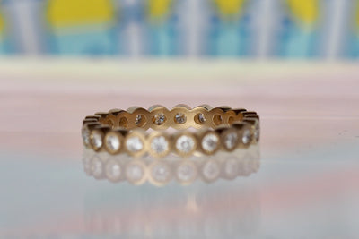 2mm Diamond Eyelash Eternity Band