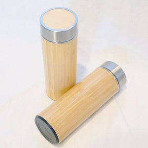 Bamboo Flask Tea Infuser Tumbler
