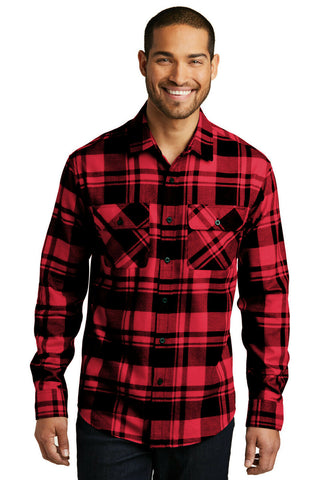 Port Authority Men's Plaid Flannel Button Down Long Sleeve Shirt