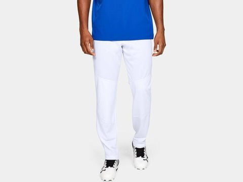 Under Armour Men's White UA Utility Relaxed Fit Open Bottom Baseball Pants