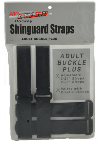 ProGuard Ice or Roller Hockey Shinguard Straps - 4 Total Straps - Youth or Adult
