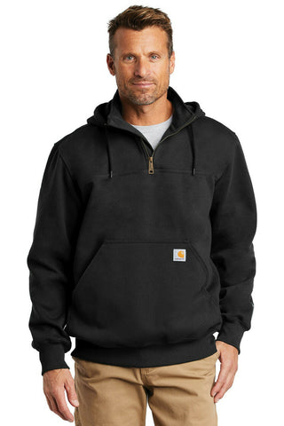Carhartt Mens Rain Defender Paxton Heavyweight Zip Mock Hooded Sweatshirt Hoodie