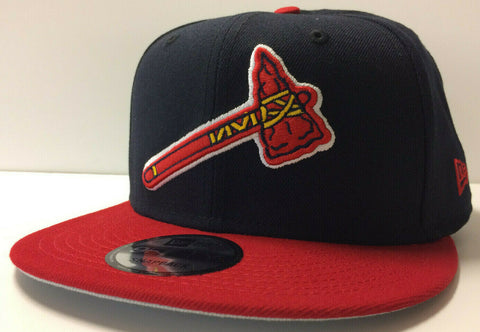 Atlanta Braves New Era 9FIFTY Tomahawk Axe Adjustable Snapback Hat Cap 2Tone 950