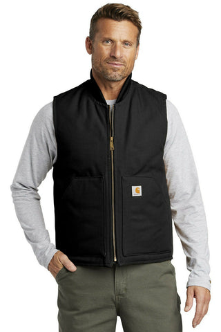 Carhartt Men's Duck Vest Artic-Quilt Lined V01 Water Repellent Zippered