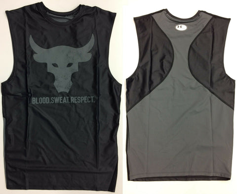 Under Armour Mens UA Project Rock Blood Sweat Respect Bull Tank Dwayne Johnson