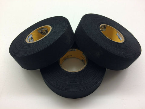"Black Hockey Tape - 1"" x 30 Yards - 3 Rolls - Howies Hockey Tape"