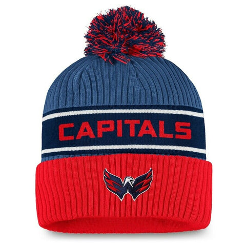 2021 Washington Capitals Fanatics NHL Locker Room Pom Cuff Knit Hat Stocking Cap