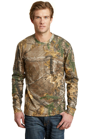 Russell Outdoors Realtree Long Sleeve Explorer 100% Cotton T-Shirt with Pocket