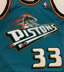Grant Hill Detroit Pistons Mitchell & Ness NBA Authentic Jersey 1998-1999 Teal