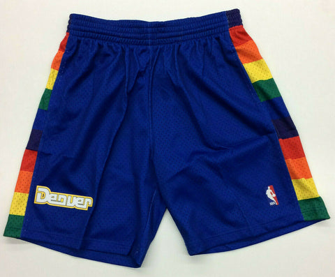 Denver Nuggets Mitchell & Ness NBA Authentic Swingman Men's Mesh Shorts Rainbow