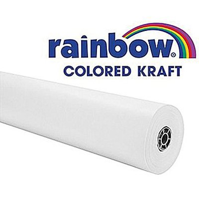 Rainbow Duo-Finish Kraft Paper Roll, 40 lb, 48 Inches x 200 Feet, White