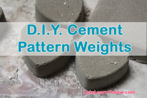 Cement Pattern weights: Set of 8