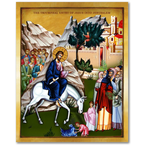 THE TRIUMPHAL ENTRY OF JESUS INTO JERUSALEM - 8x10in - Chady Elias