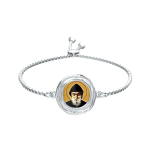 Saint Charbel - Fox Coin Bracelet in Silver - Chady Elias