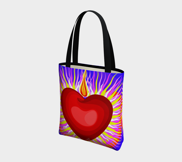 Radian Heart - B - Tote Bag - Chady Elias