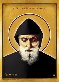 Saint Charbel Makhlouf Icon - Chady Elias, Saint Charbel Icon, Mar Charbel Icon, Saint Charbel Makhlouf Icon, Saint Sharbel Icon, Mar Sharbel Icon,  Saint Sharbel Makhlouf Icon, San Charbel Makhluf Icono, St. Charbel Icon, St Charbel Youssef Antoun Icon, Lebanese Saint Icon, Maronite Saint Icon, catholic Monk Icon, Maronite Monk Icon, Icon of Maronite Saint.